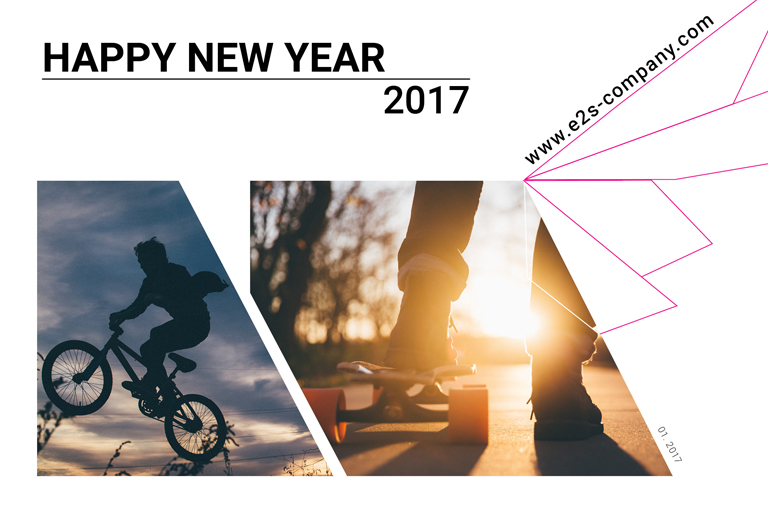 carte de voeux 2017 E2S Company